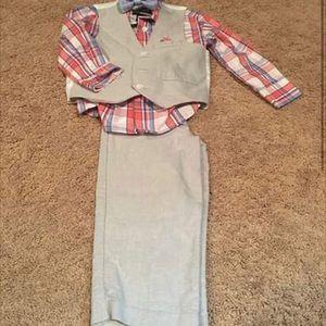 2T Nautica Outfit : shirt, pants, vest & bow tie